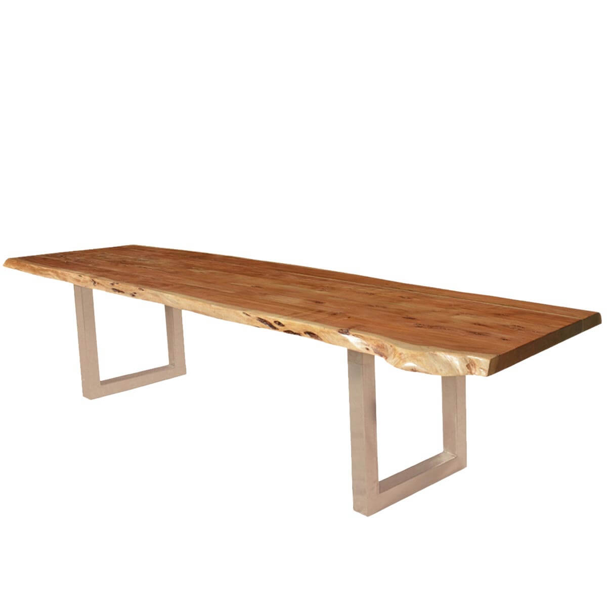 Living Edge Dining Table Modern Frontier Acacia Wood Iron