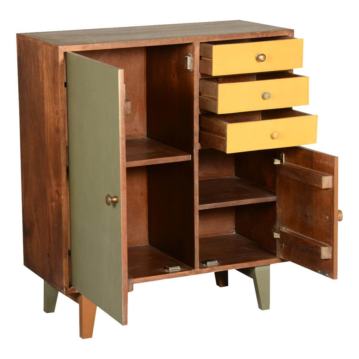 Smyrna 60 S Retro Mango Wood 3 Drawer Freestanding Storage
