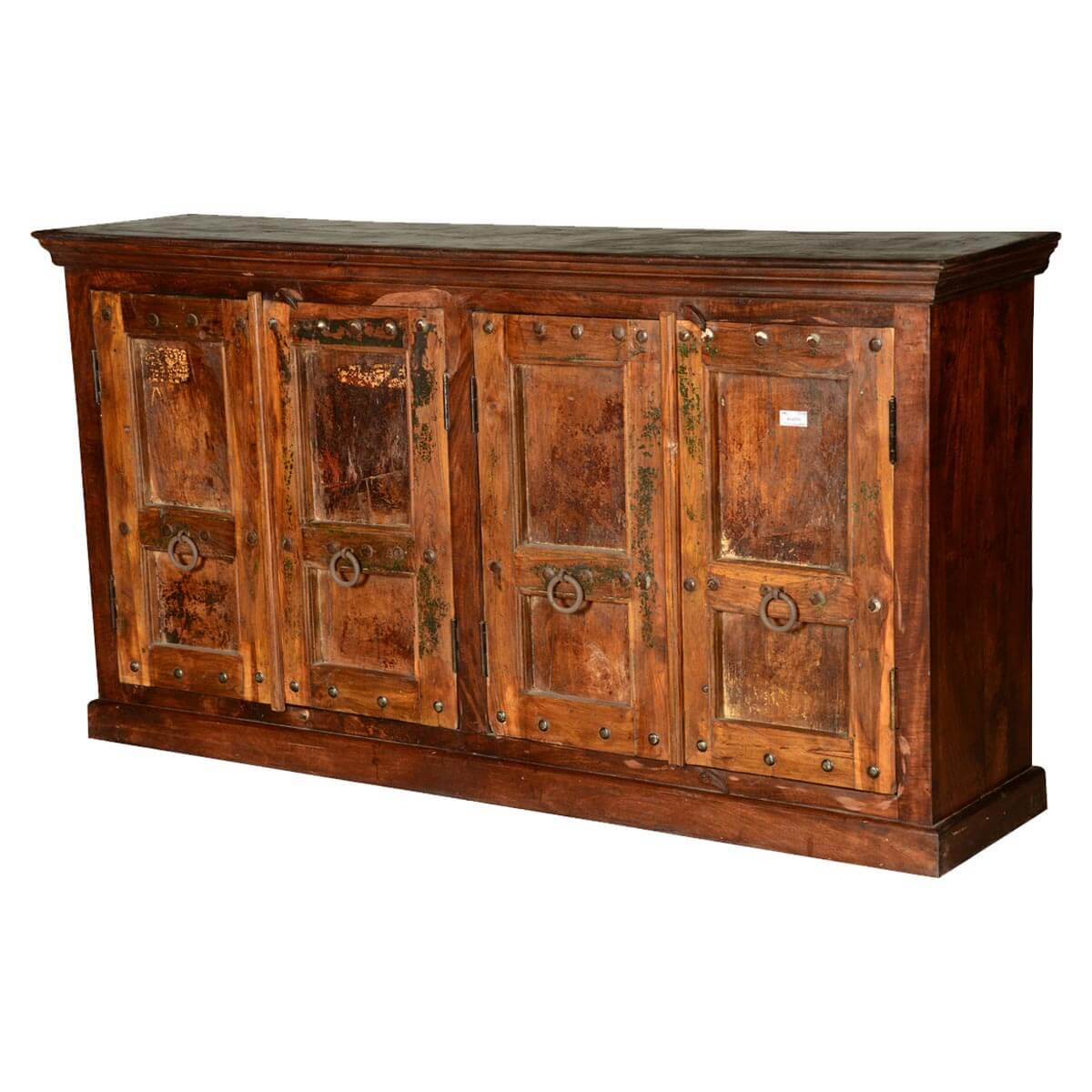 Gothic Traditions Rustic Reclaimed Wood Sideboard Cabinet