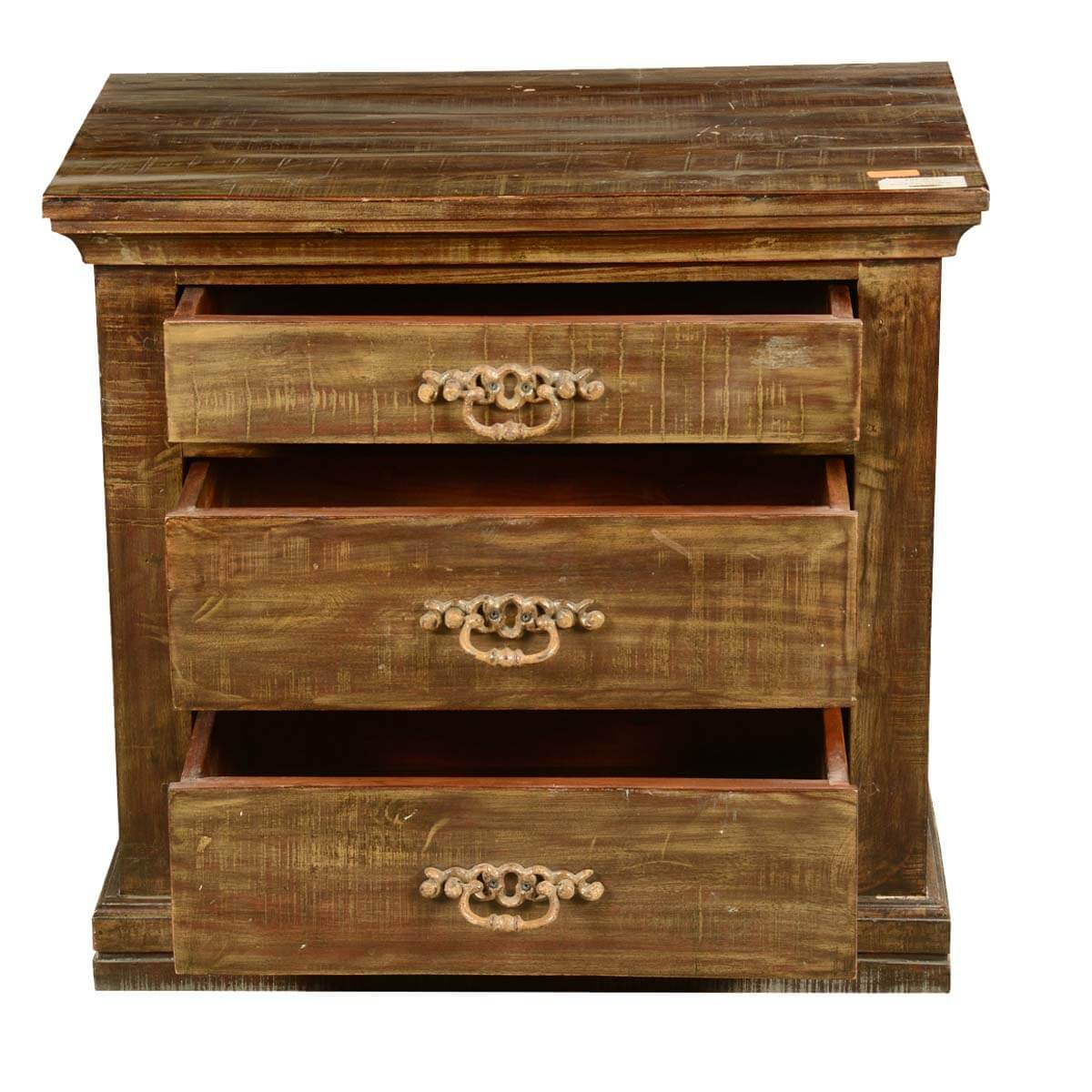 End table with drawer - English Gentleman S Chest Reclaimed Wood 3 Drawer End Table