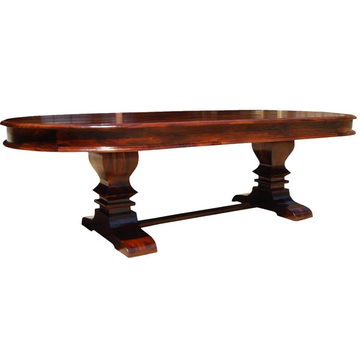 Tuscan Trestle Solid Wood 104quot Oval Dining Table : 69035 from www.sierralivingconcepts.com size 1200 x 1200 jpeg 63kB