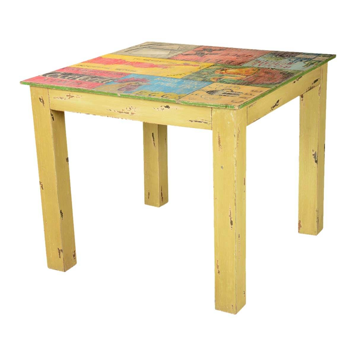 Pop Art Labels Mango Wood Yellow 35quot Square Dining Table : 6938 from www.sierralivingconcepts.com size 1200 x 1200 jpeg 87kB