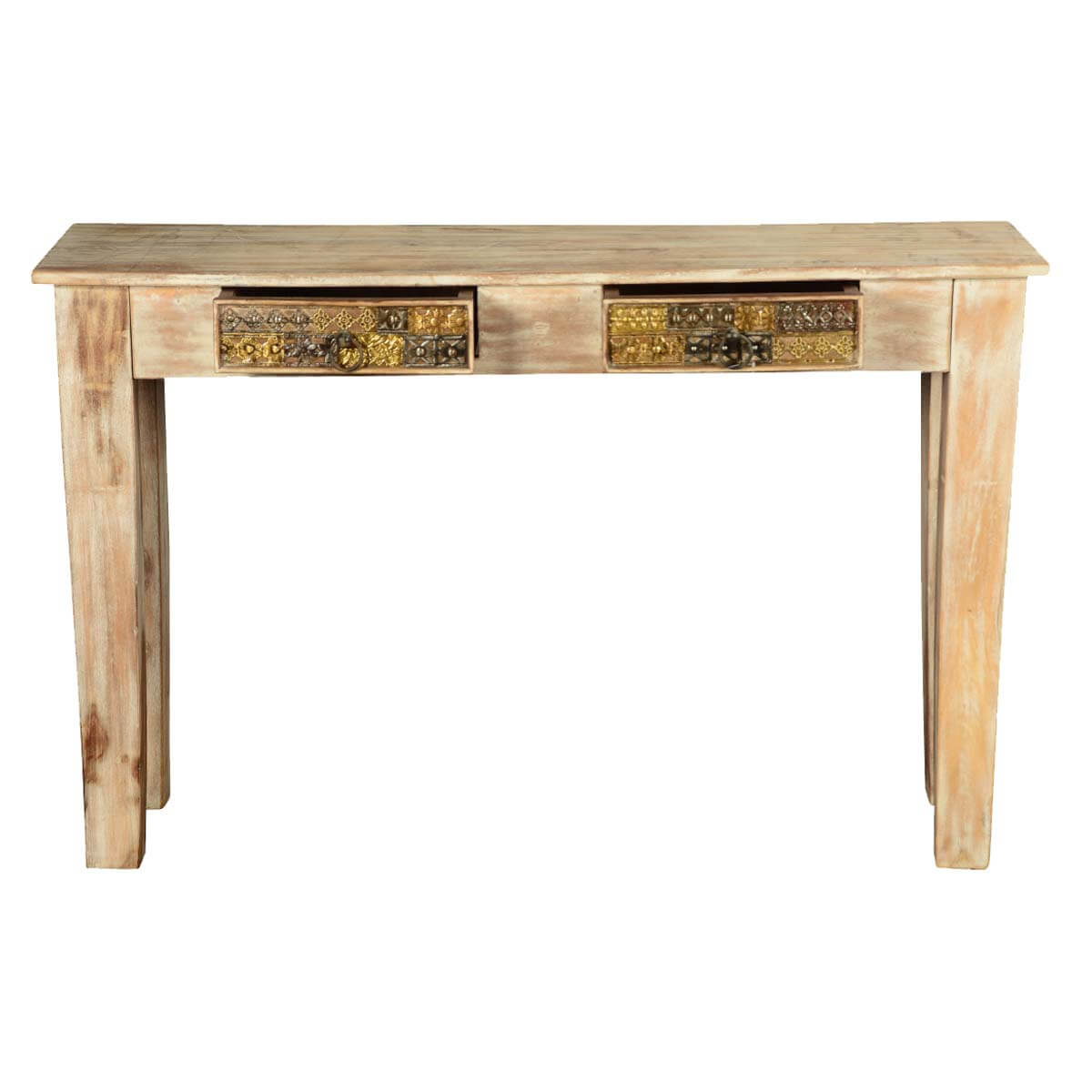 Foyer Console Questions : Modern mosaic winter white mango wood hall console table