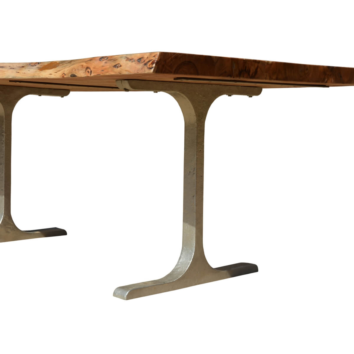Solid Wood U0026 Iron Base Santa Fe Live Edge Dining Table