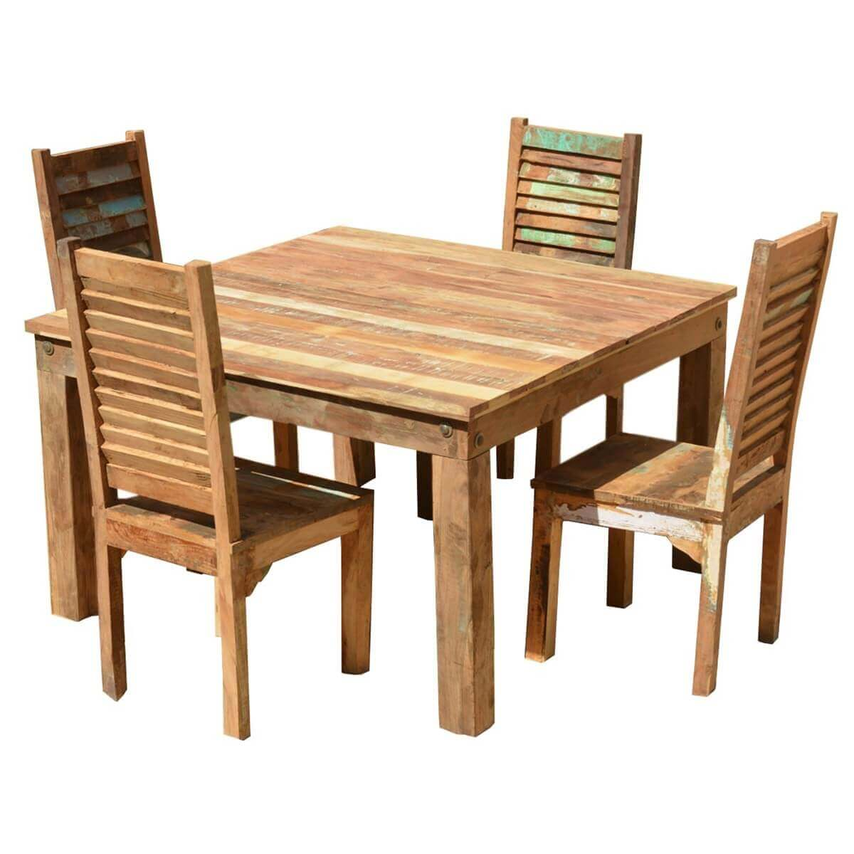 Exceptional Ohio Reclaimed Wood Furniture Dining Table U0026 Shutter Back Chairs Set