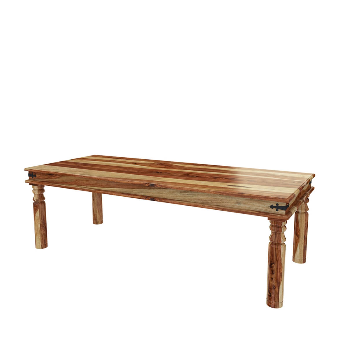 Dallas Ranch Large Solid Wood Rustic Dining Table