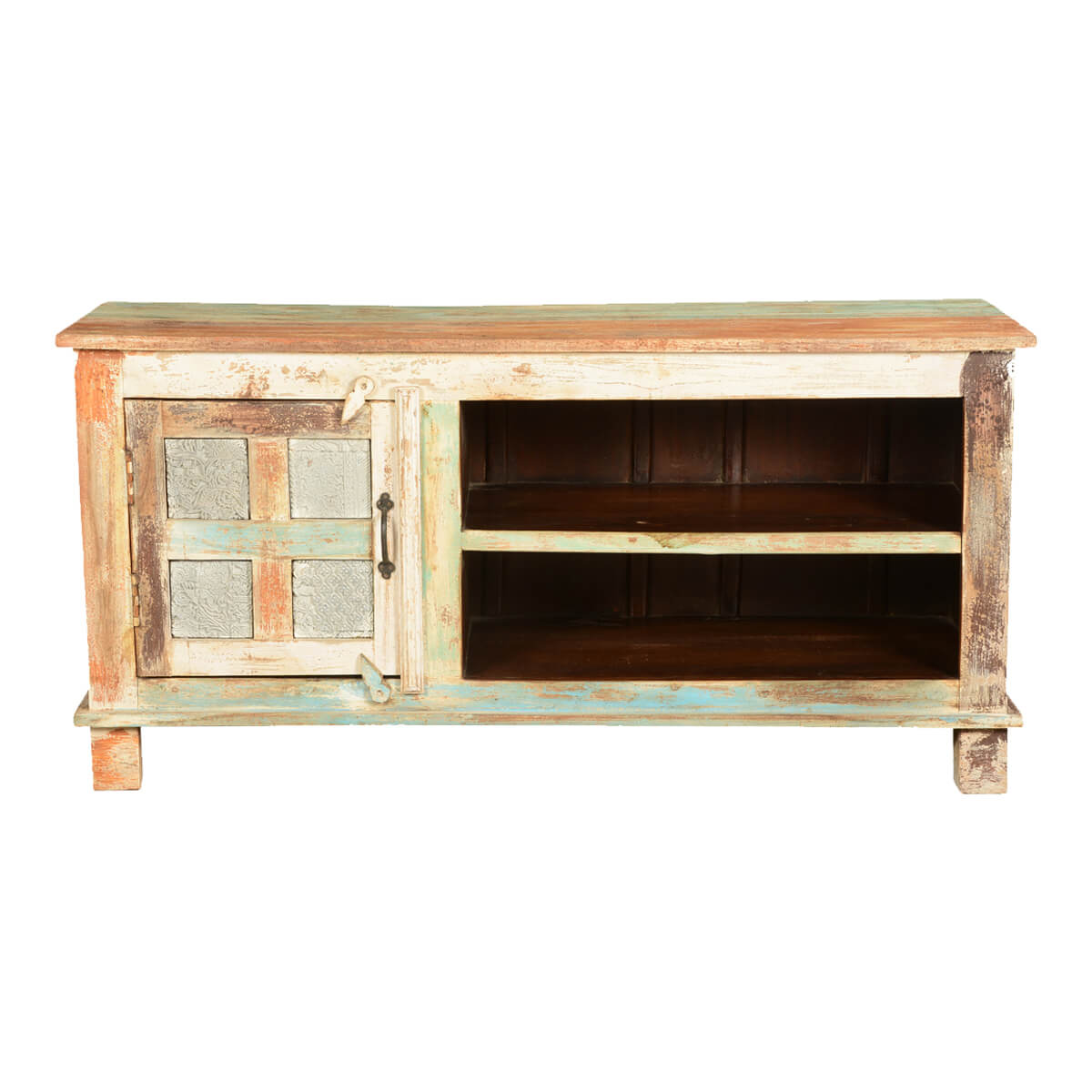 Wooden Tv Stands Product ~ Roslyn wooden window mango wood tv stand media console cabinet