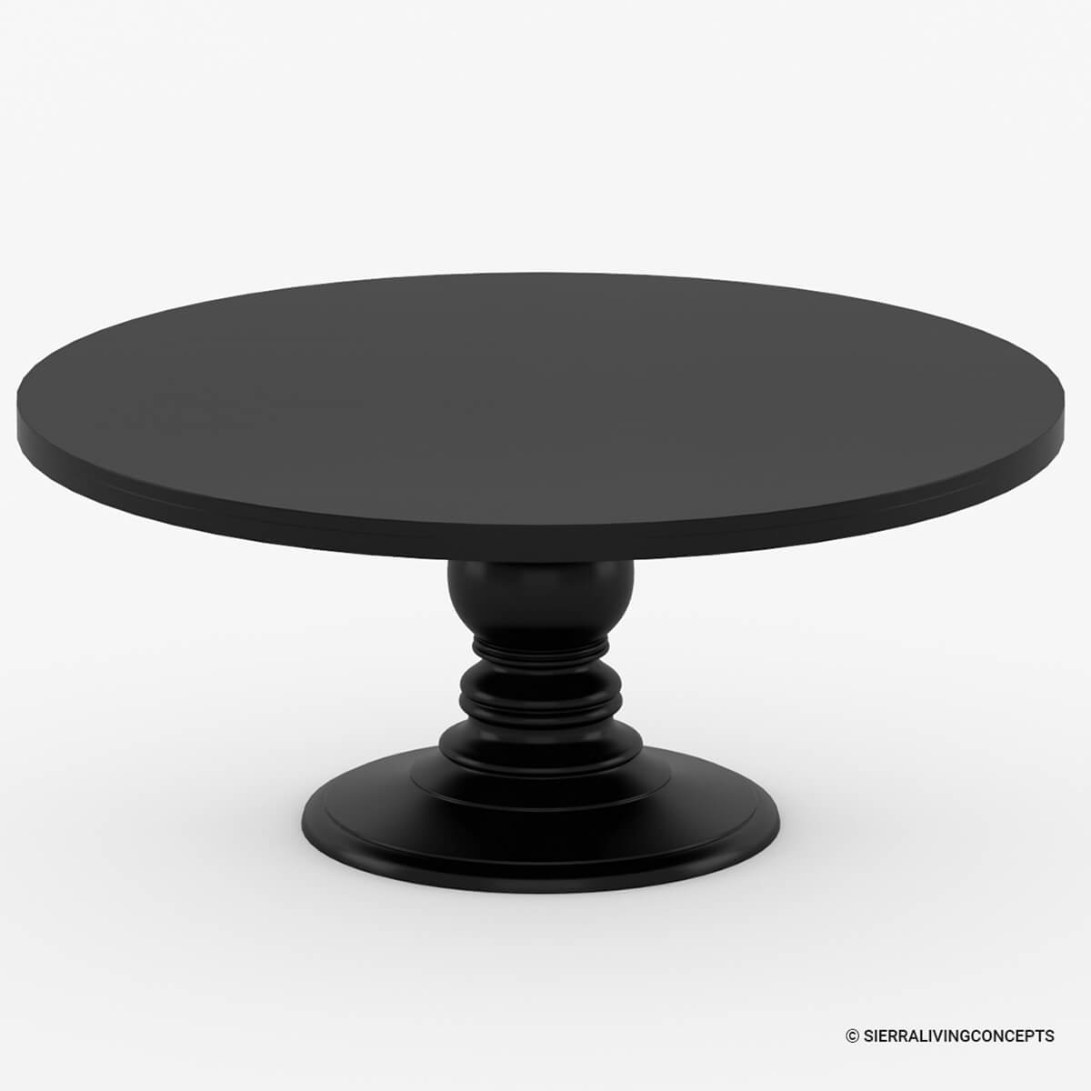Nottingham Rustic Solid Wood Black Round Dining Room Table Set : 71195 from www.sierralivingconcepts.com size 1200 x 1200 jpeg 256kB