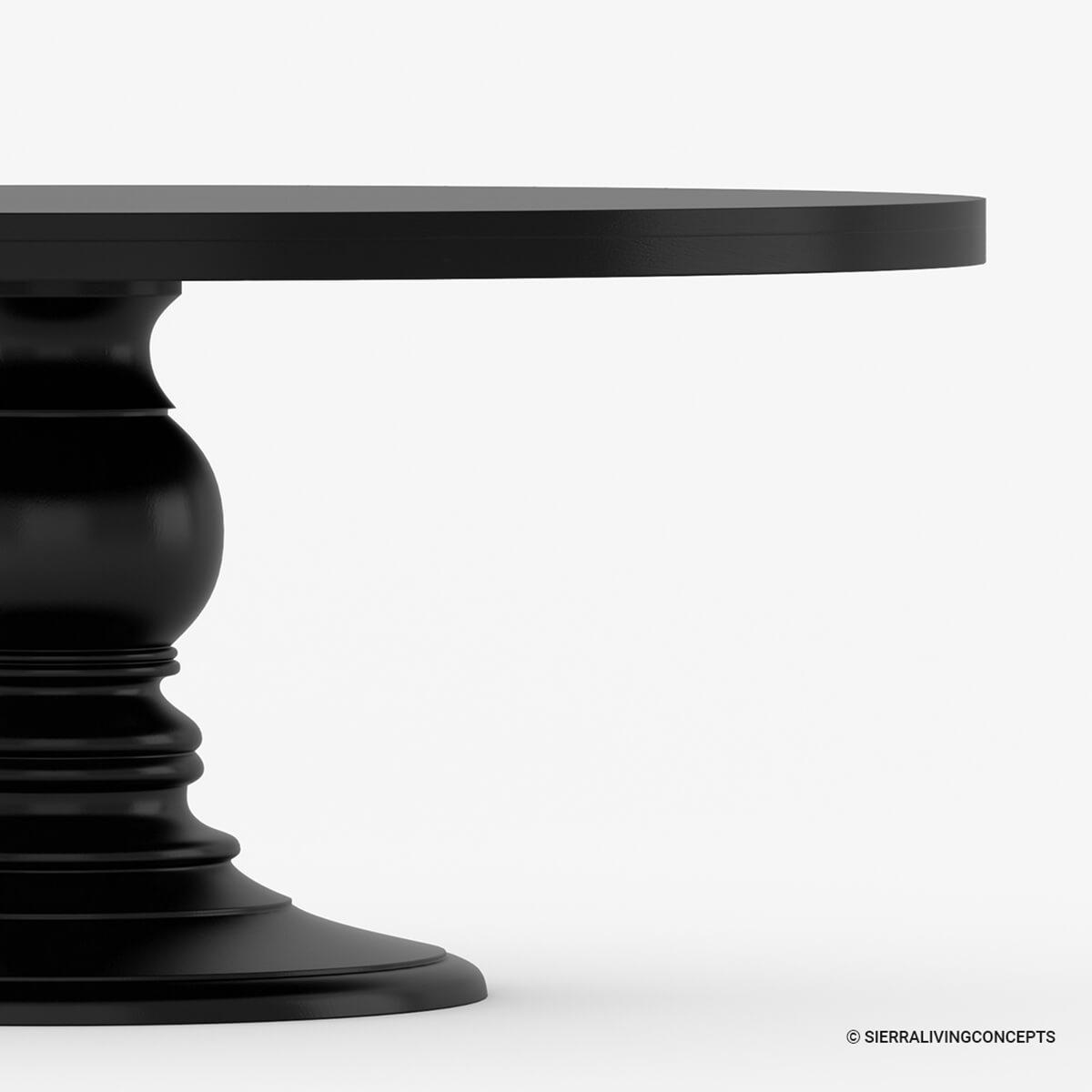 Black round dining room