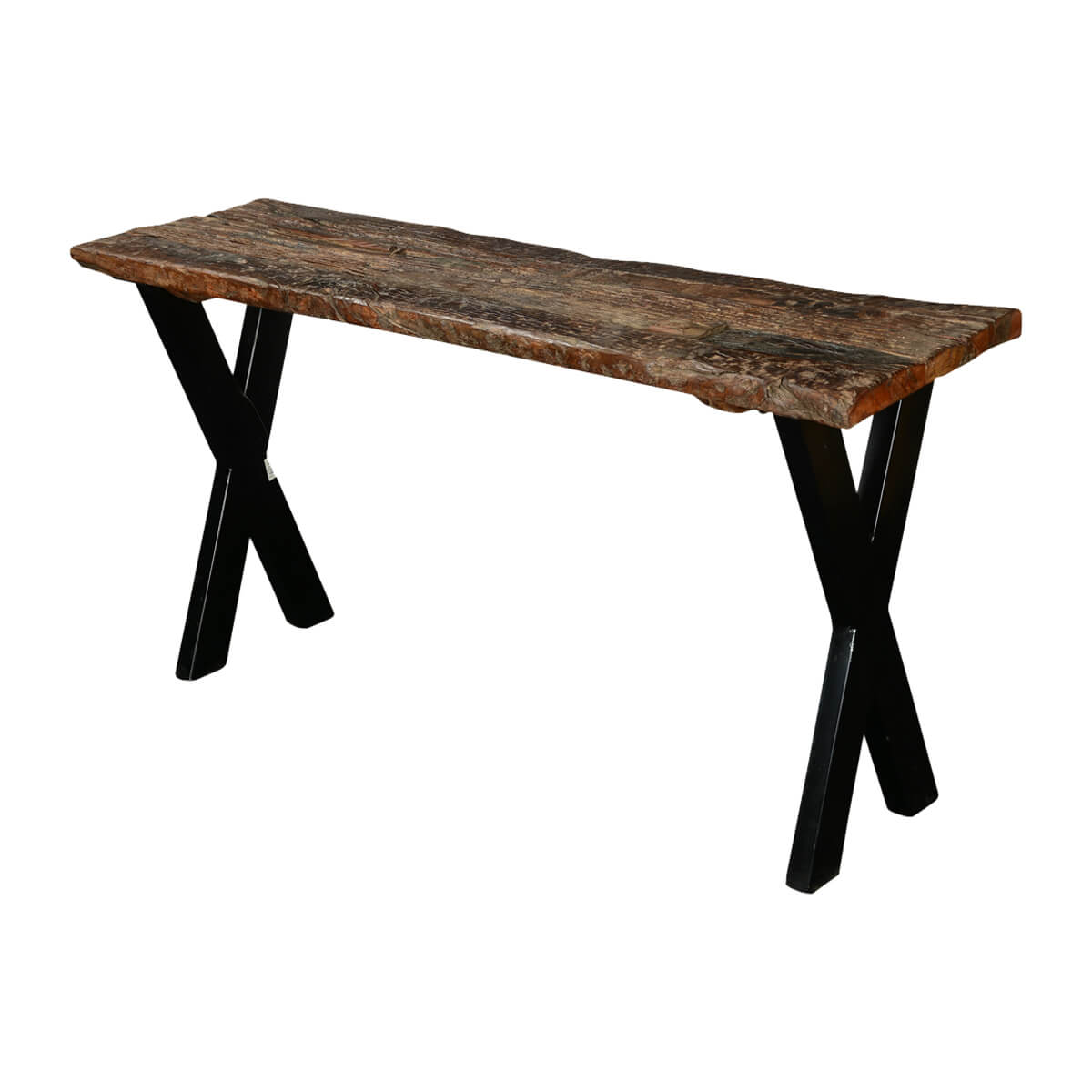 India Steamer Railroad Ties U0026 Industrial Iron 56u201d Hall Console Table