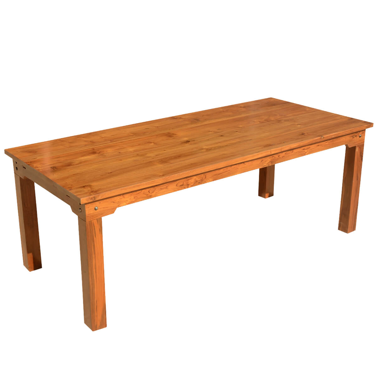 Simply modern solid teak wood dining table w extensions for Solidworks design table zoom