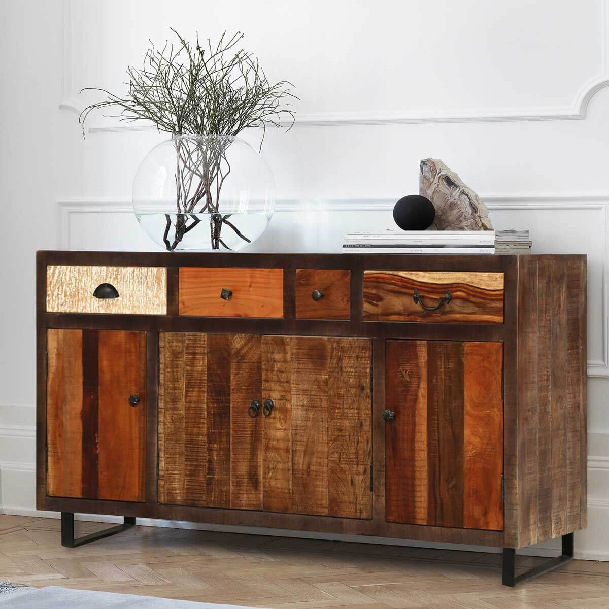Sideboard Industrial mango wood industrial style sideboard