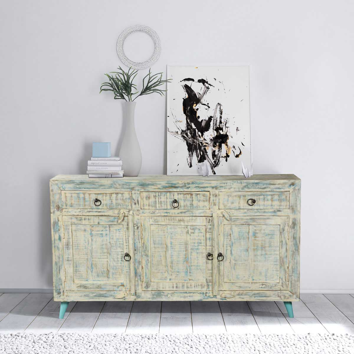White Washed Reclaimed Wood Standing 55