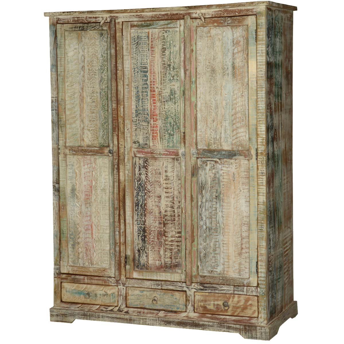 Large White Armoire