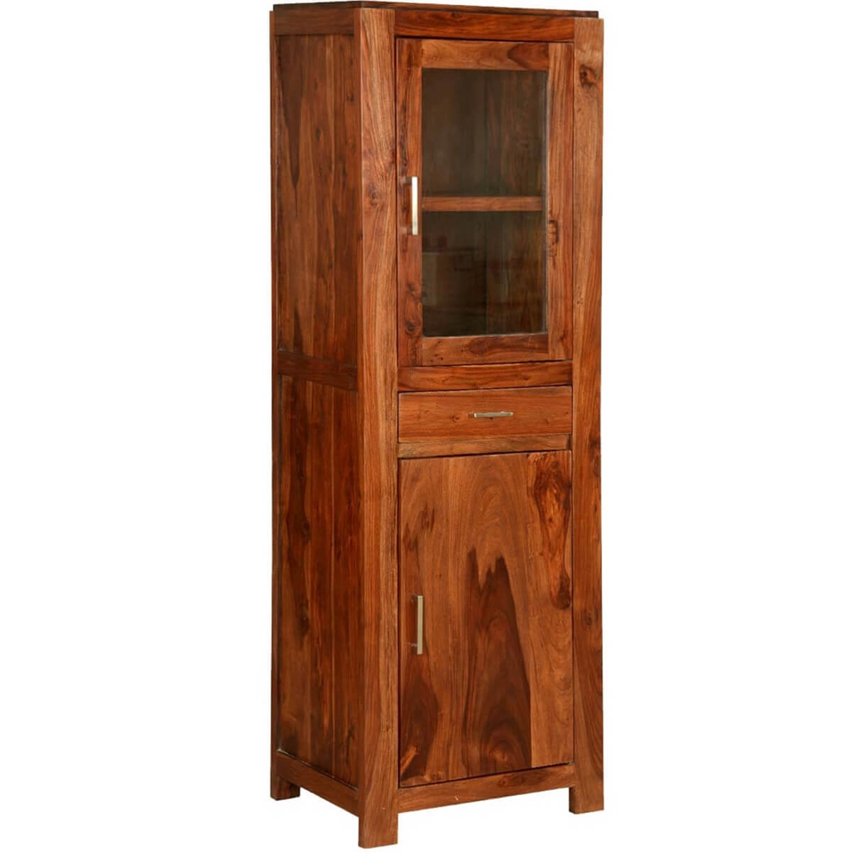 Allegany solid wood freestanding display cabinet for Solid wood cabinets