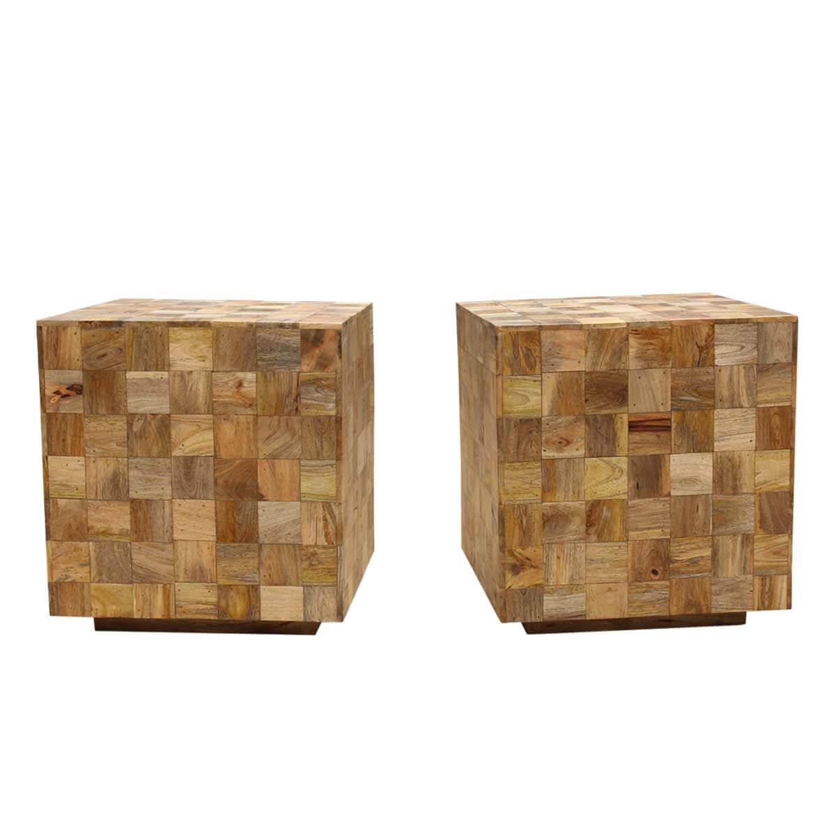 Captivating Modern Mosaic Mango Wood 22