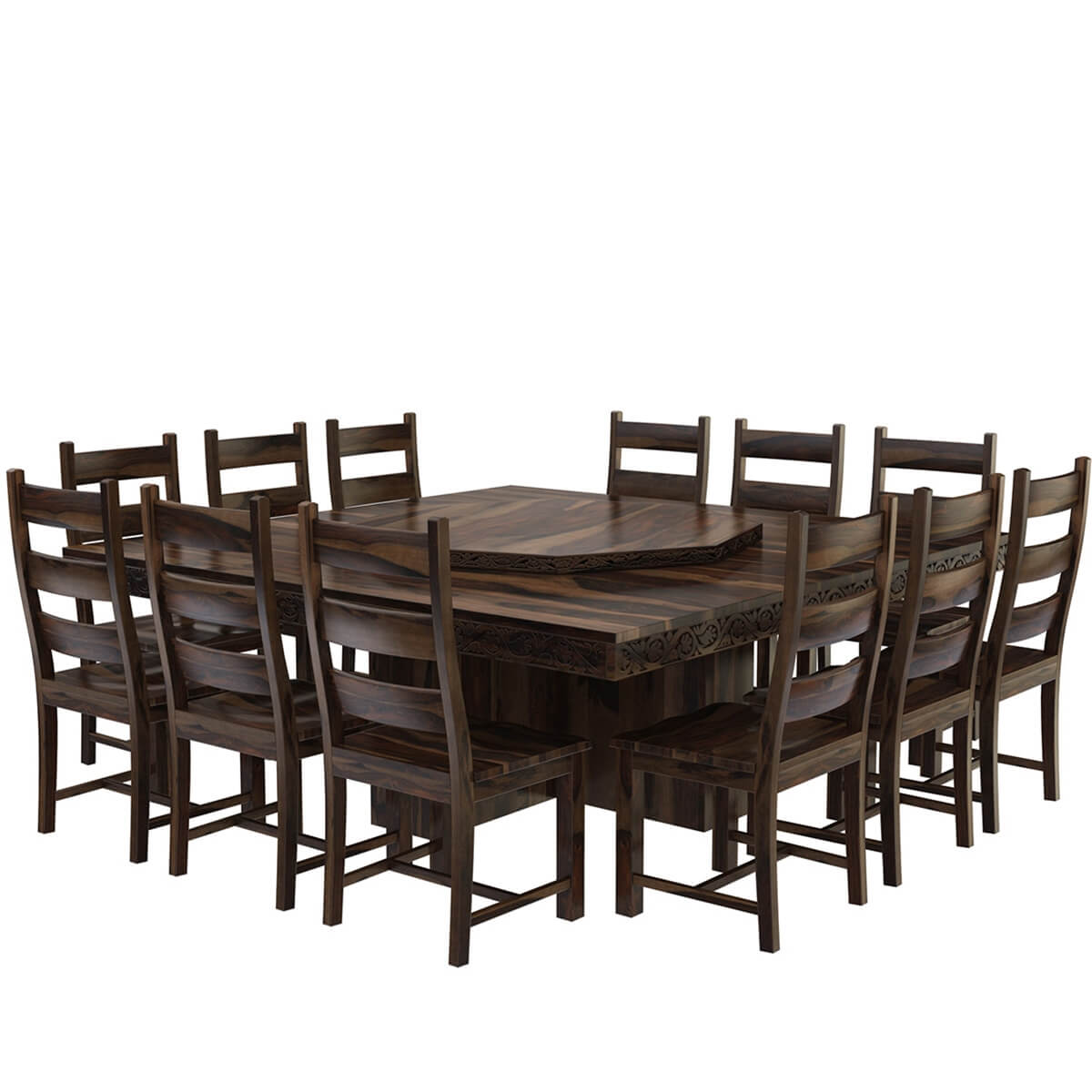 Modern Pioneer Solid Wood Lazy Susan Pedestal Dining Table  : 73793 from www.sierralivingconcepts.com size 1200 x 1200 jpeg 94kB