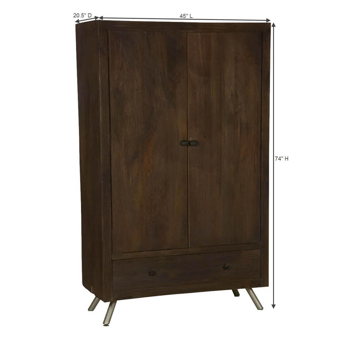 modern frontier mango wood freestanding wardrobe armoire. frontier mango wood freestanding wardrobe armoire