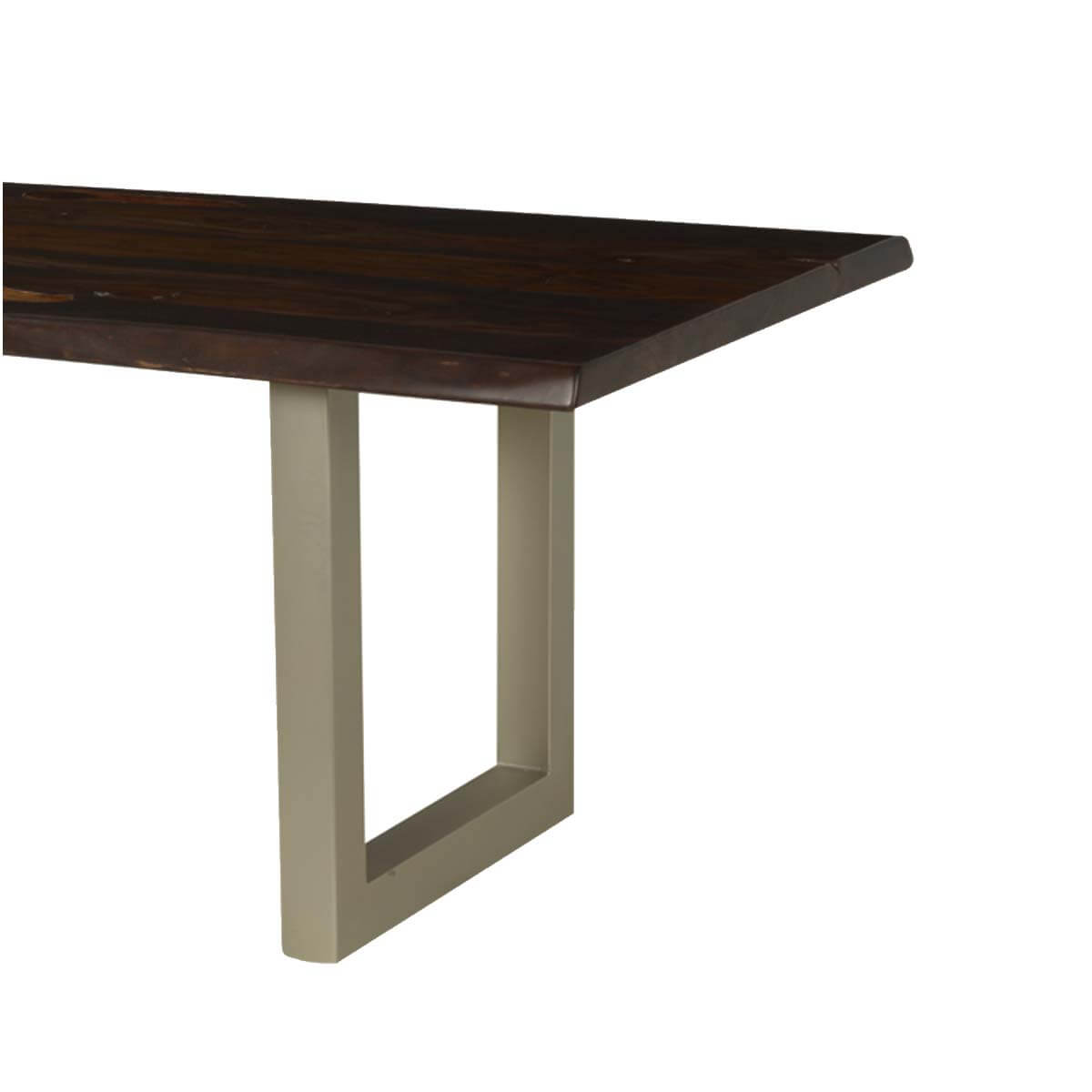 Modern frontier acacia wood live edge dining table for 12 for 12 people dining table
