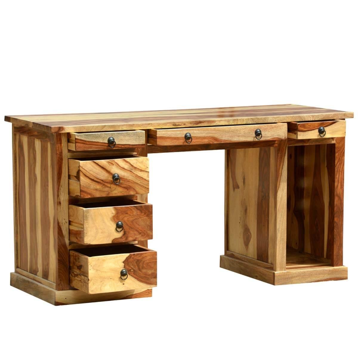 dallas ranch solid wood contemporary executive office desk. Black Bedroom Furniture Sets. Home Design Ideas