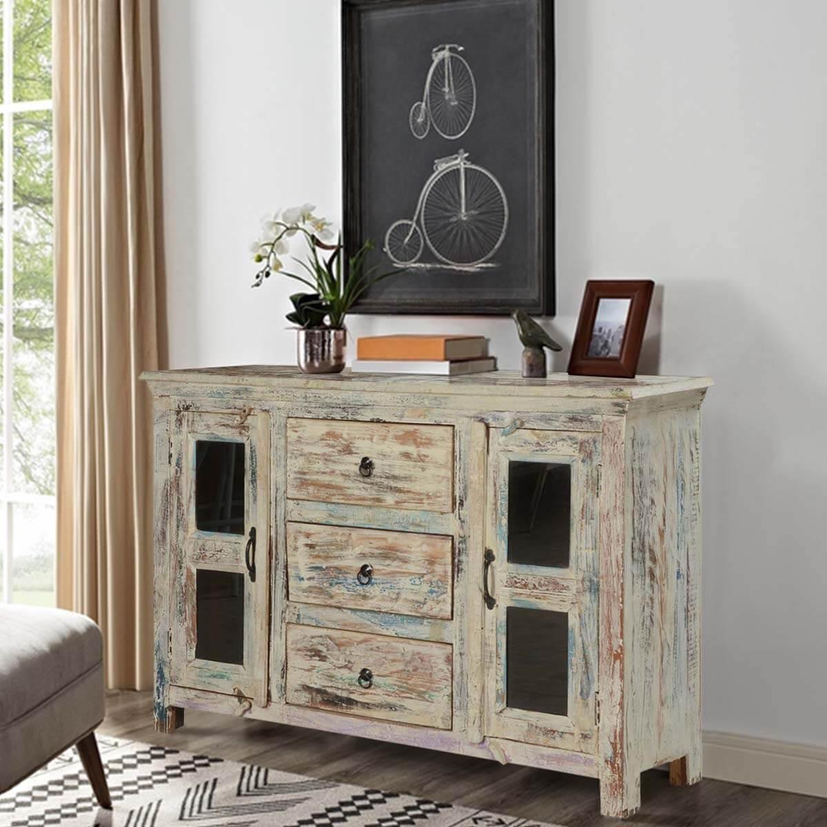 Winter Storm Mango Wood Freestanding Buffet Cabinet - Tucson 59
