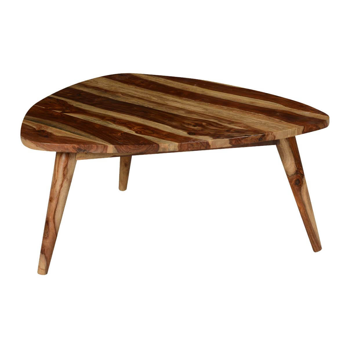 Triangular Solid Wood Coffee Table