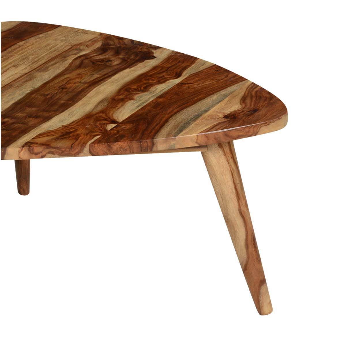 39 triangular solid wood coffee table 39 triangular solid indian rosewood coffee table geotapseo Choice Image