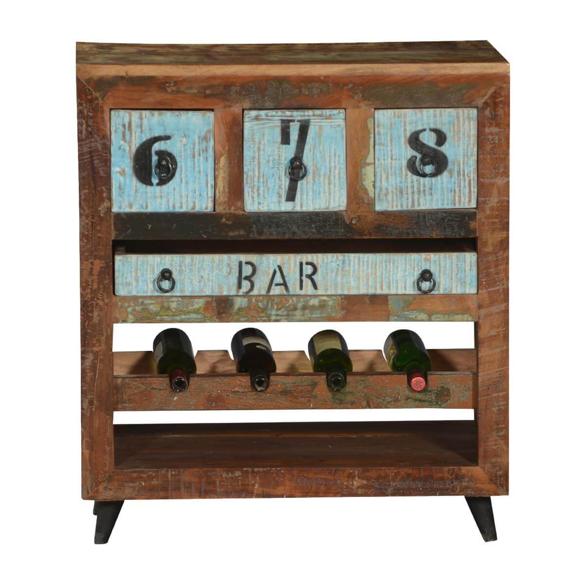 sc 1 st  Sierra Living Concepts & Hazlet By-The-Numbers Reclaimed Wood Wine Rack Bar Cabinet
