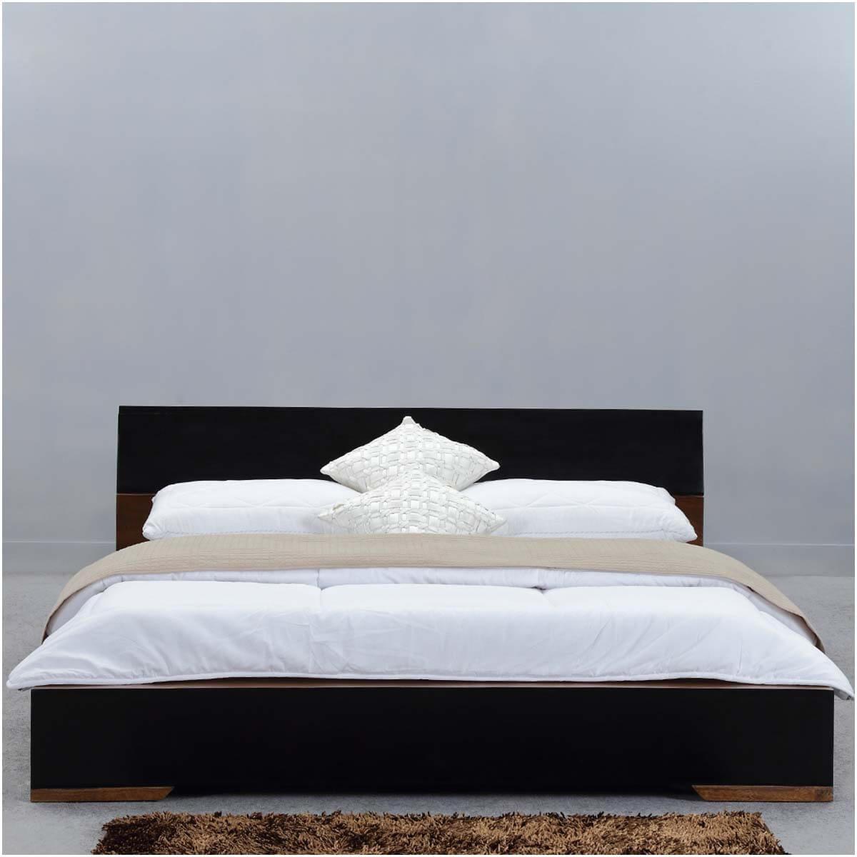 Modern Simplicity Mango Wood Floor Frame Platform Bed W