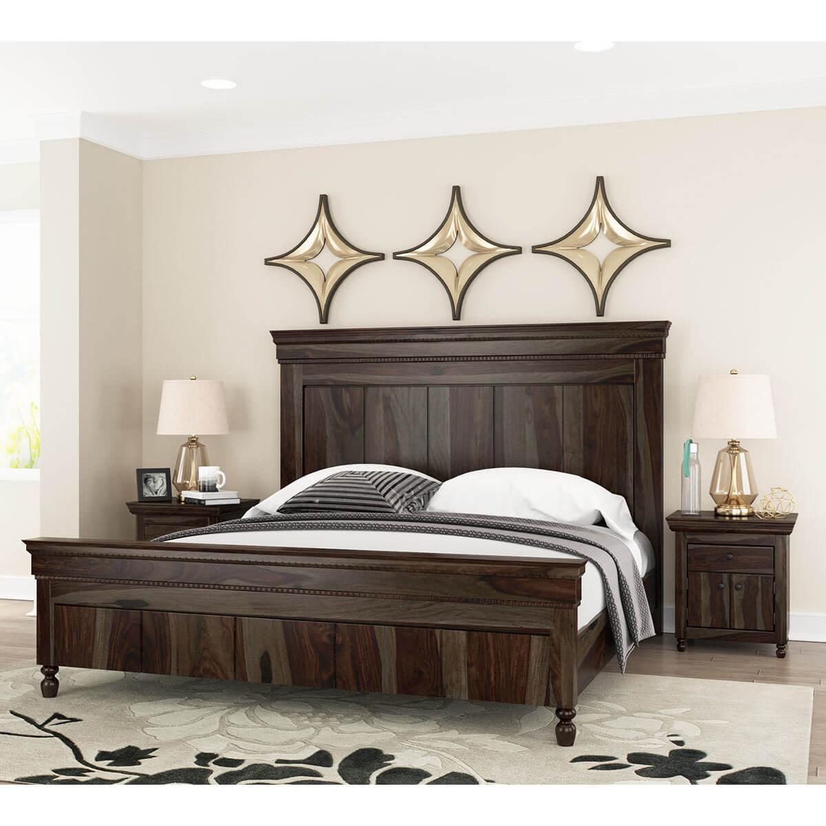 modern rustic solid wood bed frame w headboard footboard. rustic solid wood bed frame w headboard footboard
