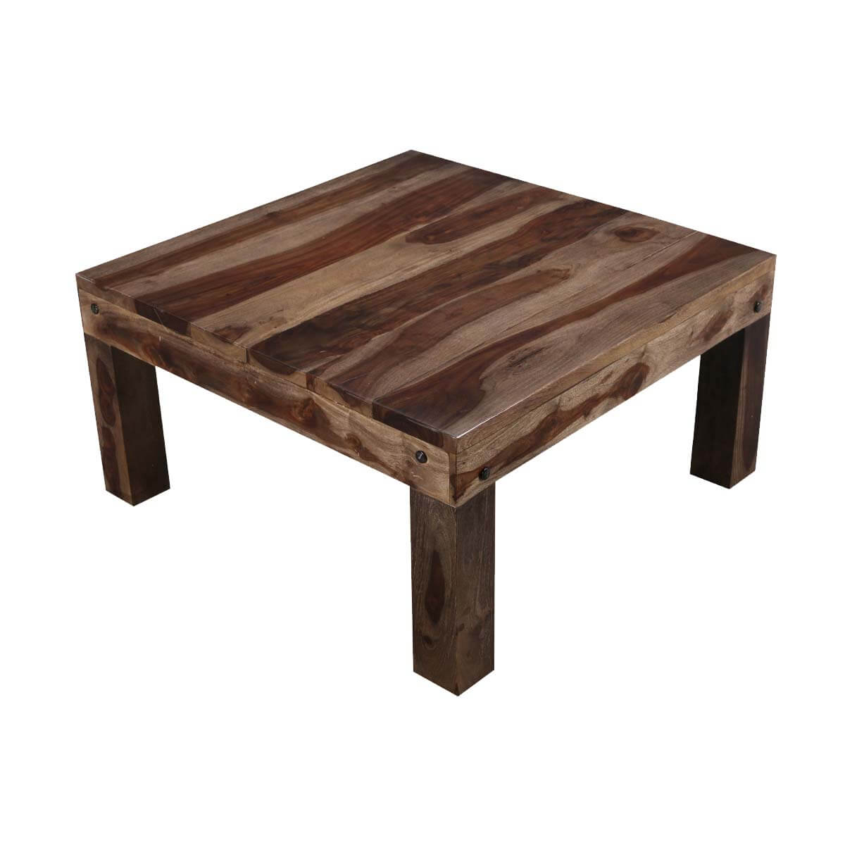 pasadena square solid wood coffee table. Black Bedroom Furniture Sets. Home Design Ideas