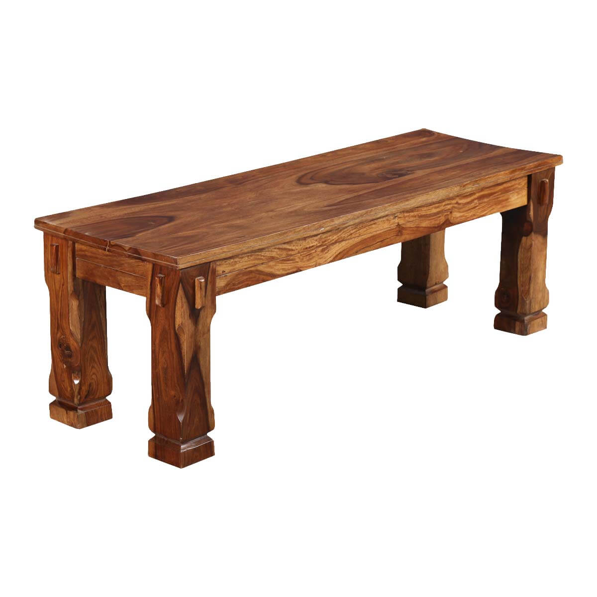 Denver Long Solid Wood Dining Bench
