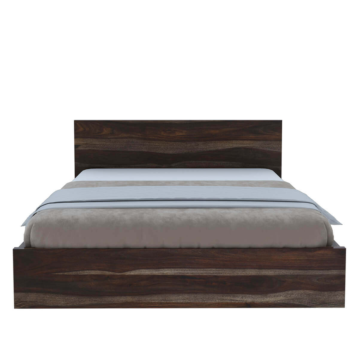 Paganus modern simplicity solid wood platform bed frame for Wooden bed frame and mattress