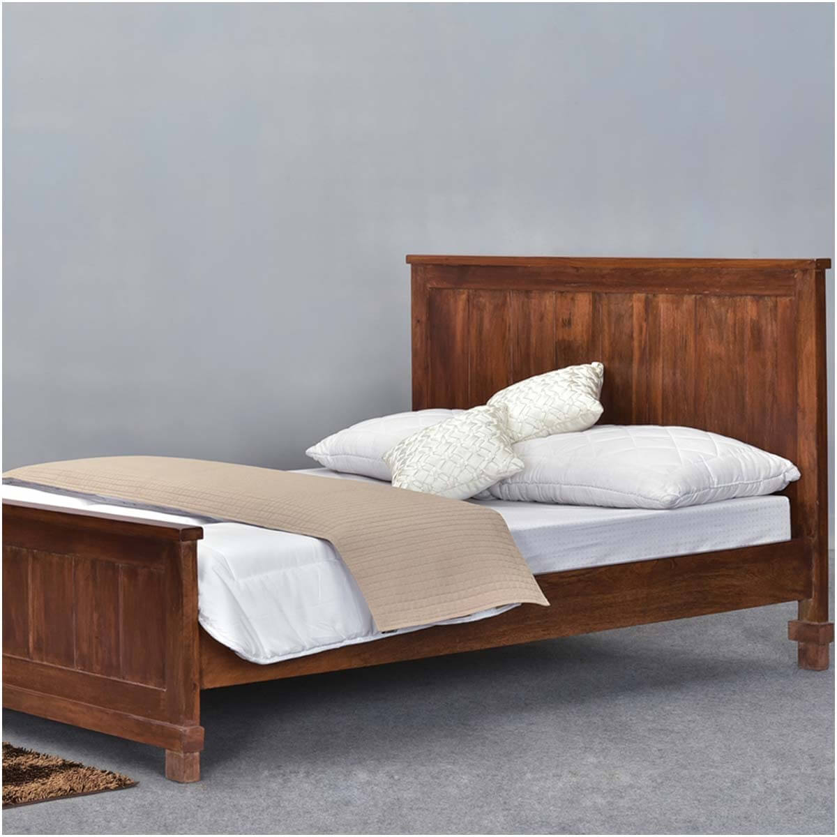 Santa fe mission solid wood rustic full size platform bed Wood platform bed