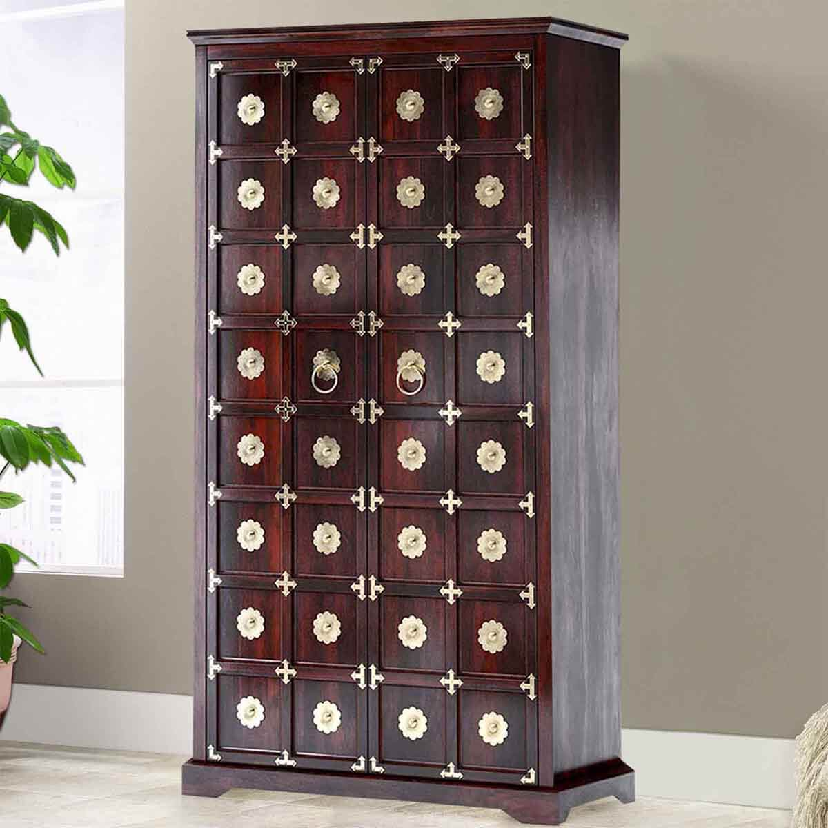 "Madison Indian Rosewood 80"" Wardrobe Armoire Cabinet"
