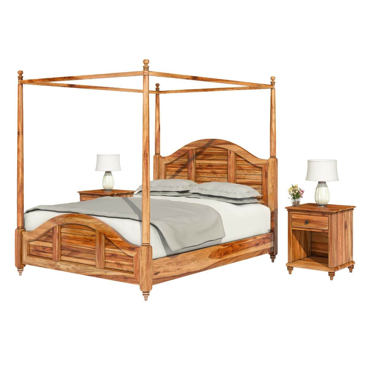 Livingston Handcrafted California King Size Solid Wood
