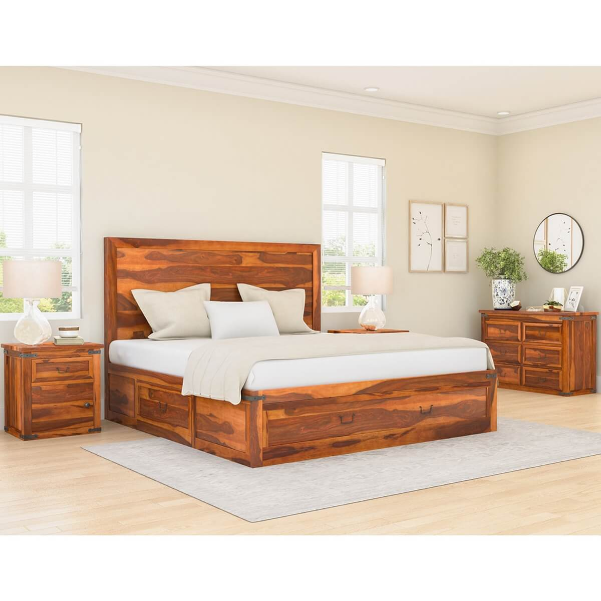 shaker solid wood 7 piece bedroom collection