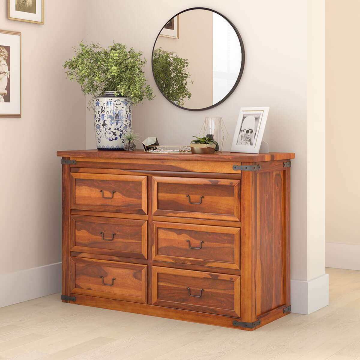 Clic Shaker Solid Wood Bedroom 6 Drawer Double Dresser