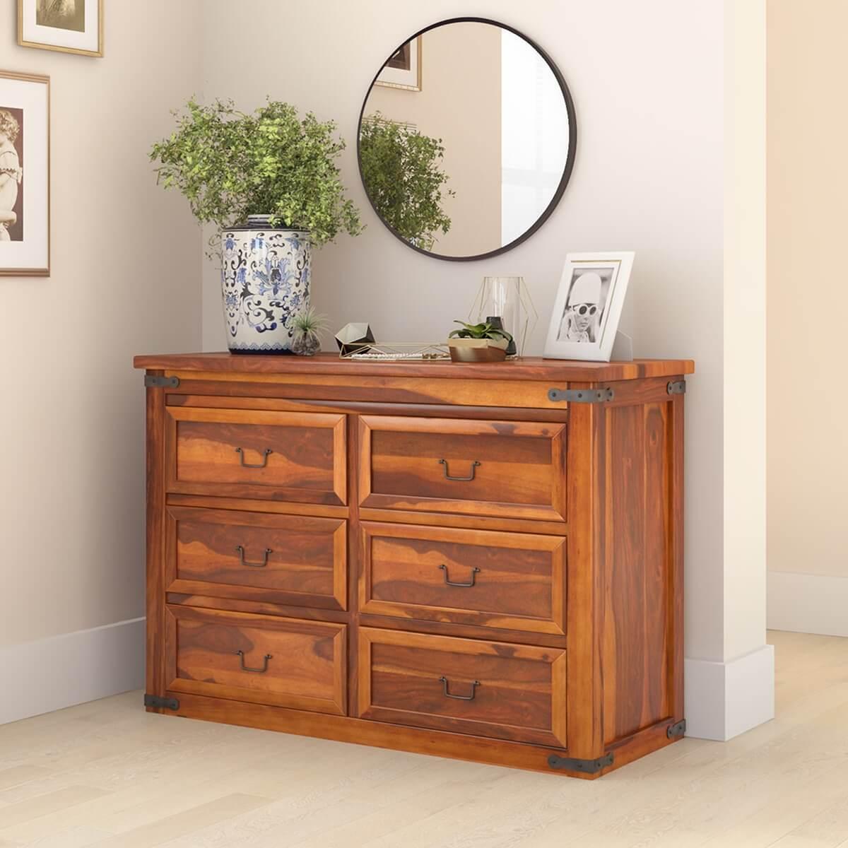Shaker Solid Wood Bedroom 6 Drawer Double Dresser