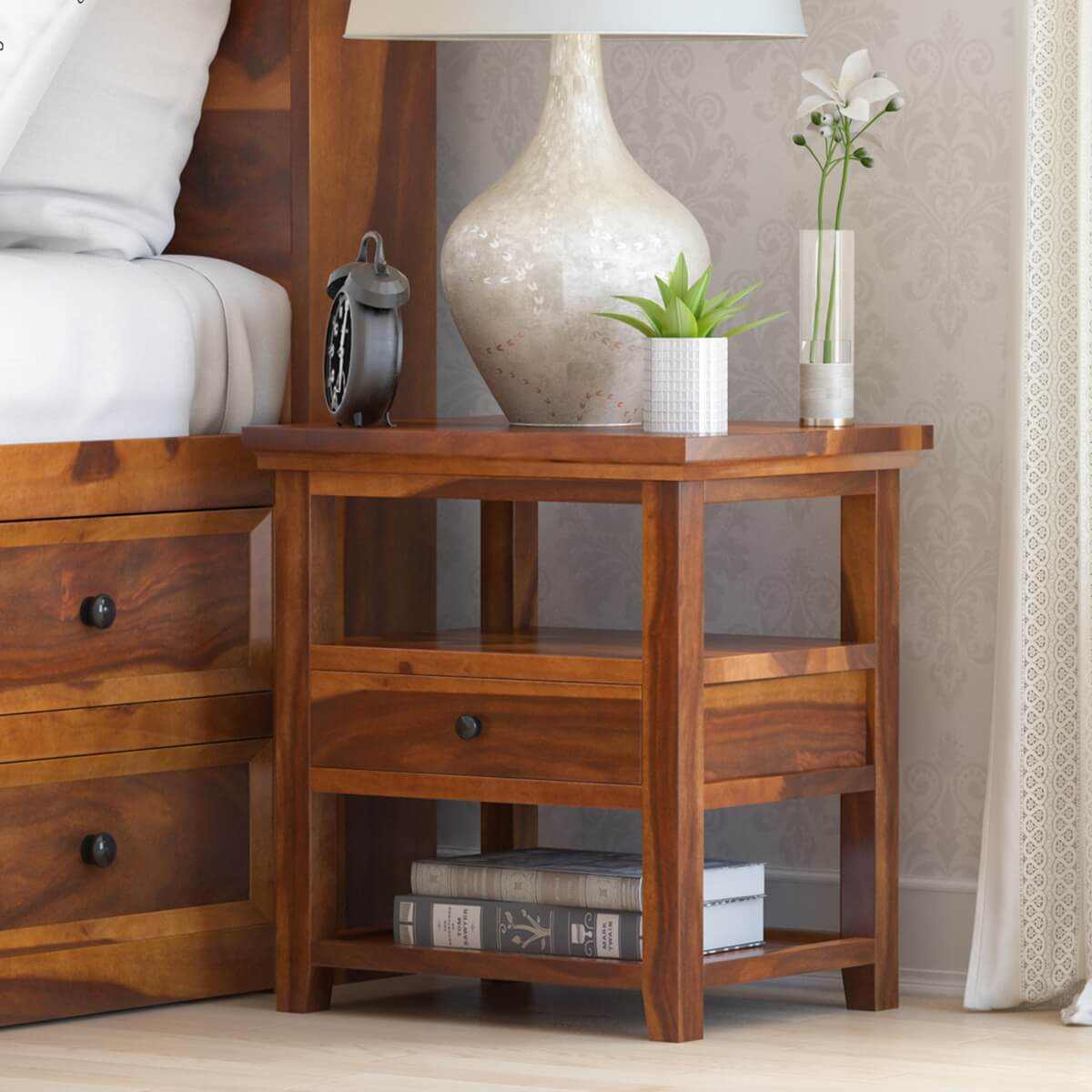 Nightstand With Built In Night Light