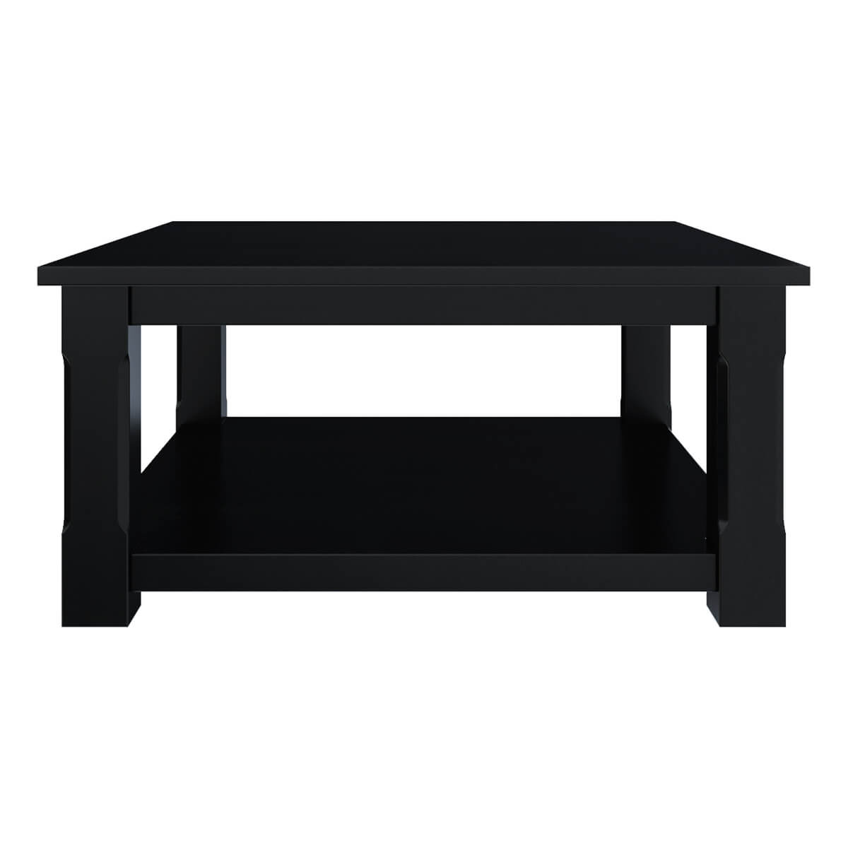 Floating Square Coffee Table In Green And Black Slatelike: Black Wood Square Coffee Table