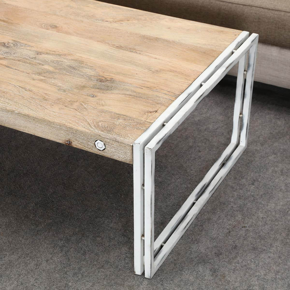 Industrial Coffee Table White