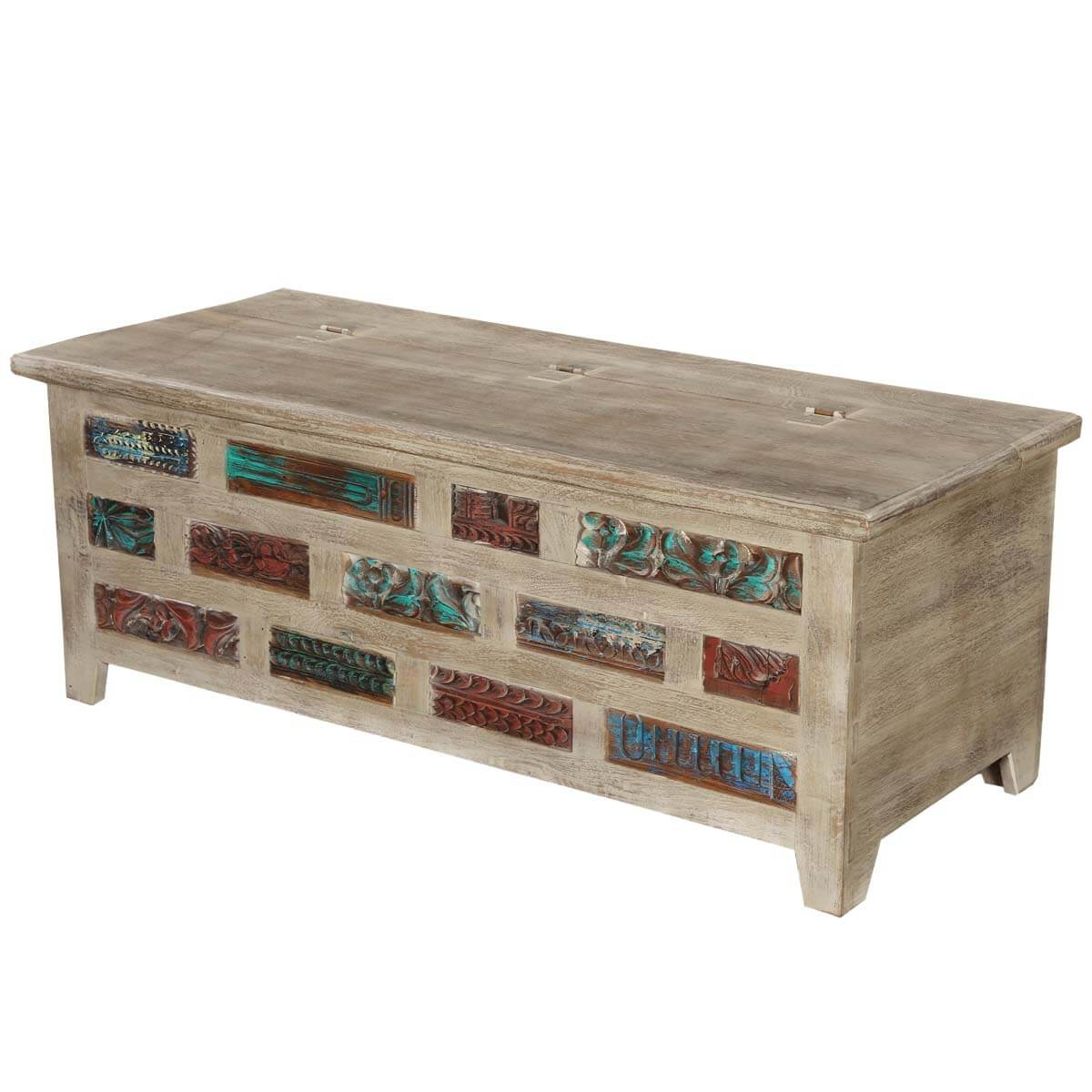 Brick Wall Mango Reclaimed Wood Coffee Table Chest