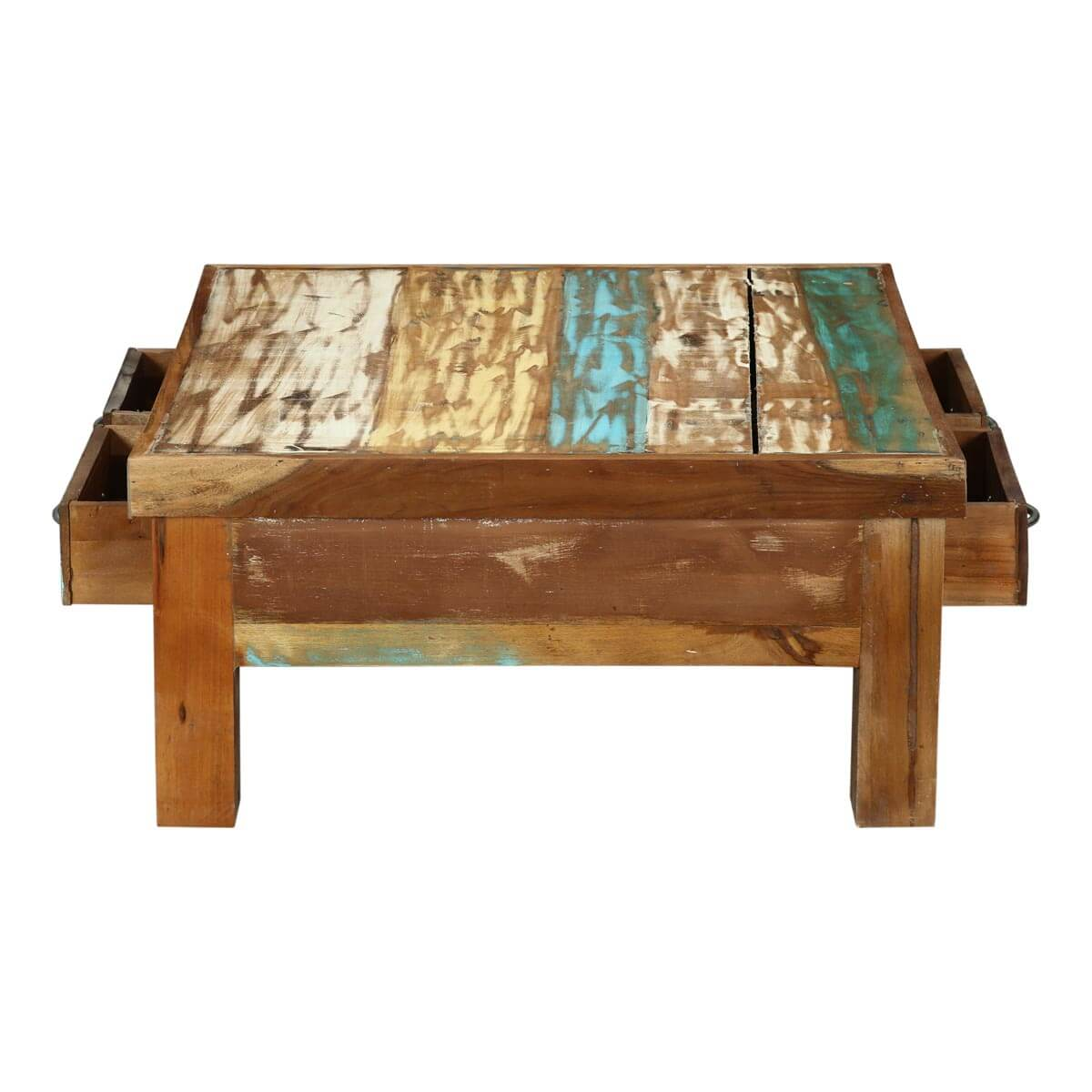 Seoul Rustic Reclaimed Wood 4 Drawer Coffee Table