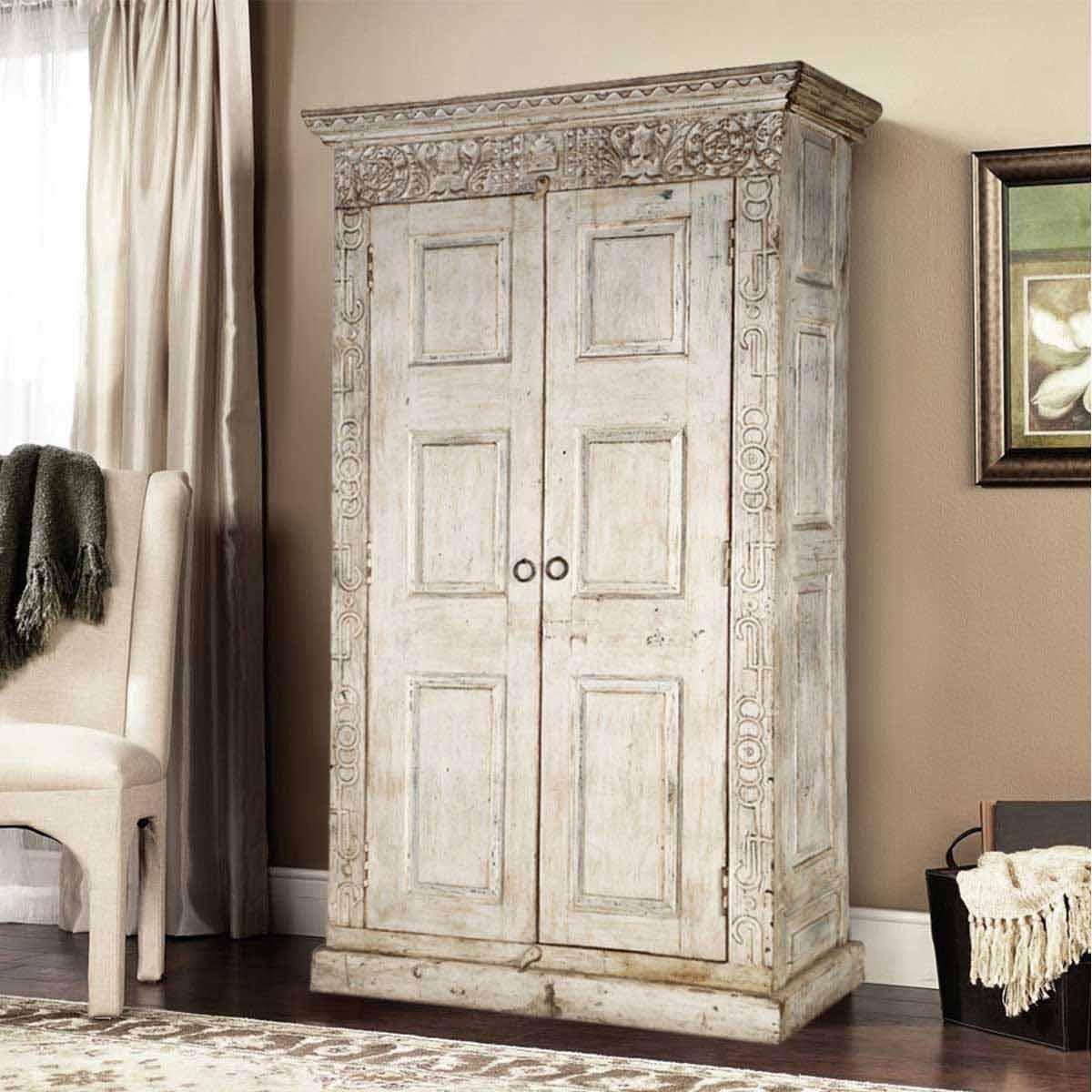 Dakota Handcrafted Solid Wood 2 Door Tall Rustic