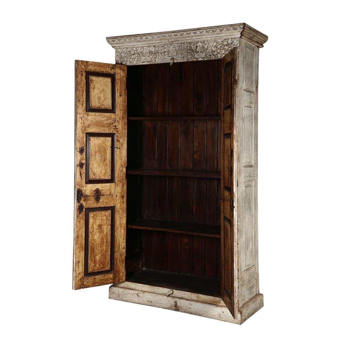 dakota handcrafted solid wood 2 door rustic tall storage cabinet. Black Bedroom Furniture Sets. Home Design Ideas