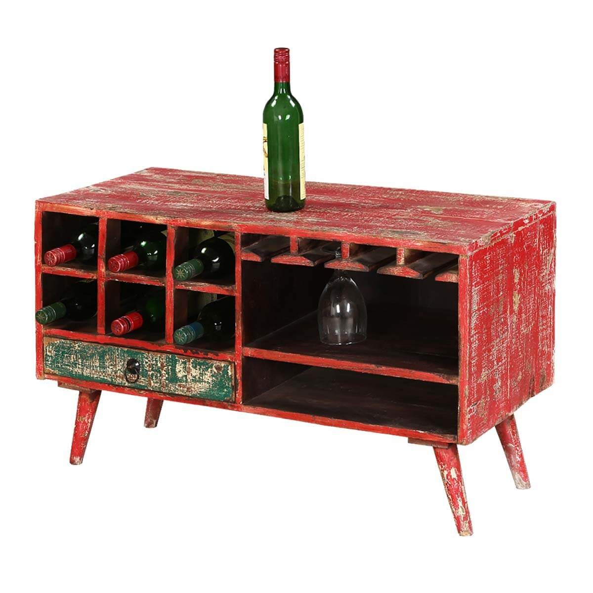 Turquoise Trail 35 Bright Red Open Storage Accent Wine Rack  sc 1 st  Sierra Living Concepts & Turquoise Trail 35