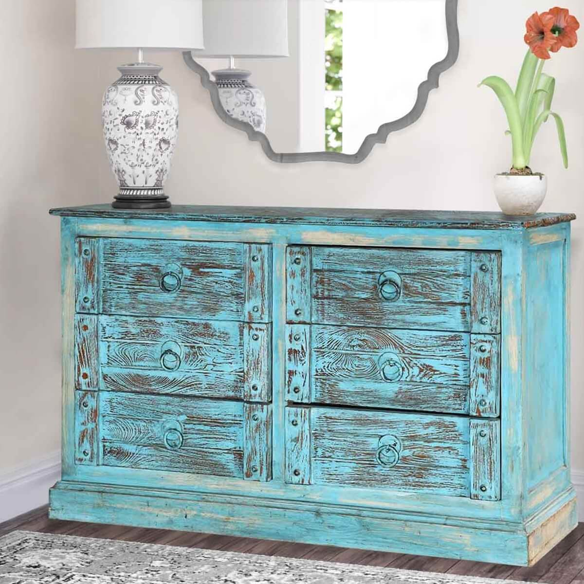 distressed dresser provincial edithandevelynvintage evelyn edith blue a dsc french com