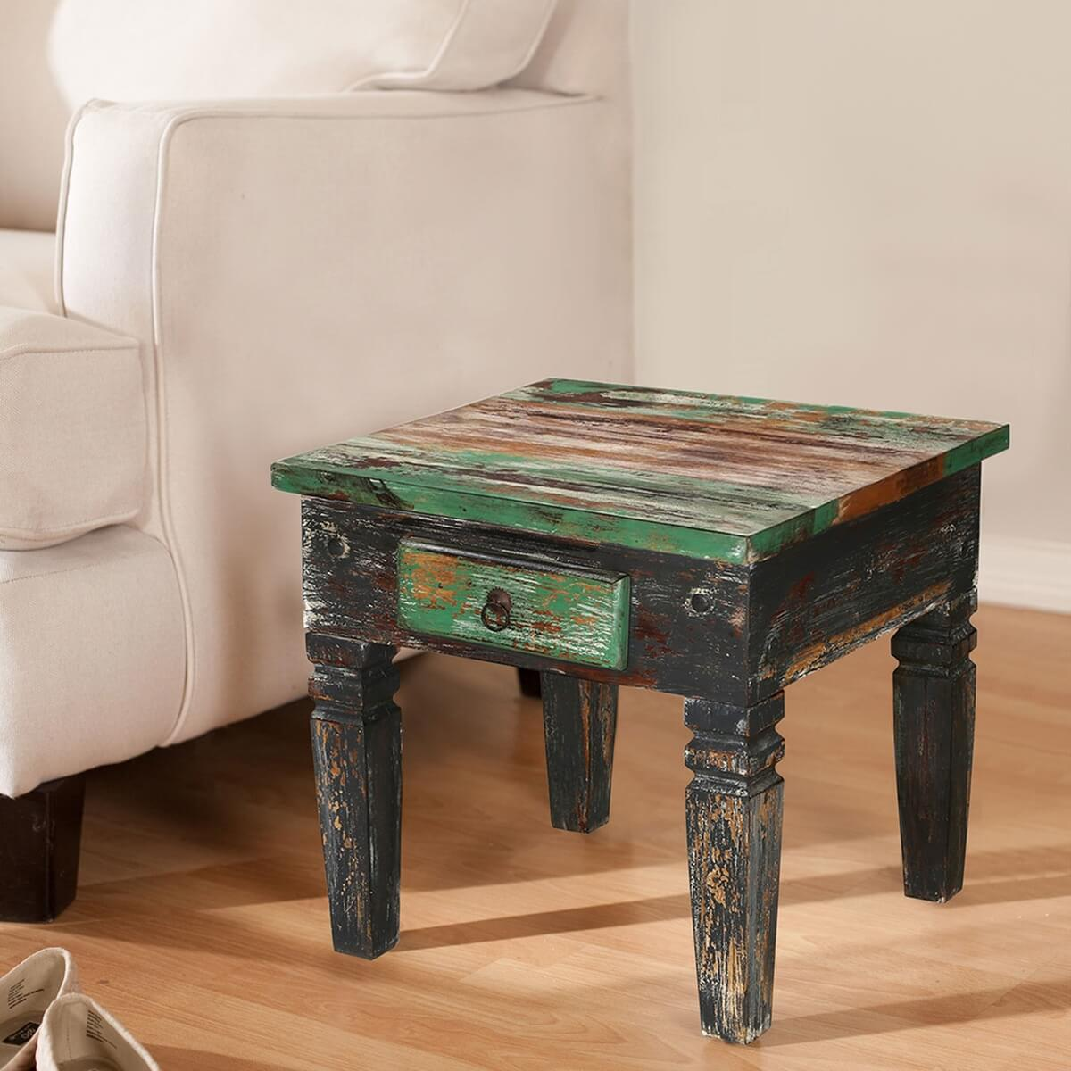 Maine traditional solid wood 1 drawer accent end table for 1 drawer table