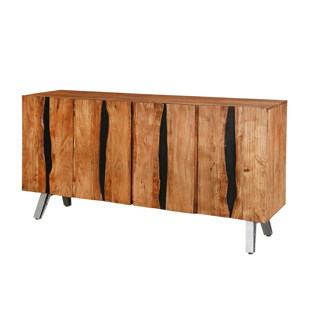 Acacia Wood Door : Saturn acacia wood door sideboard cabinet